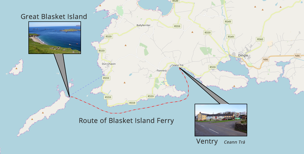 Blasket Island Ferry Location Departure